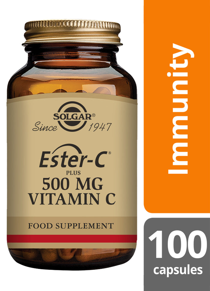Solgar® Ester-C® Plus 500mg Vitamin C Vegetable Capsules - Pack of 100