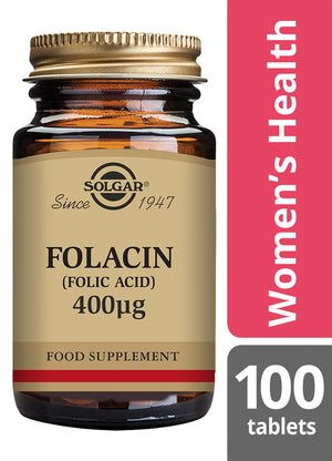 Solgar® Folacin (Folic Acid) 400µg Tablets - Pack of 100