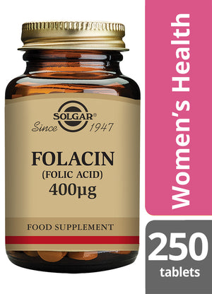 Solgar® Folacin (Folic Acid) 400µg Tablets - Pack of 250