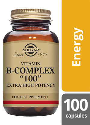 Solgar® Vitamin B-Complex 100 Extra High Potency Vegetable Capsules - Pack of 100