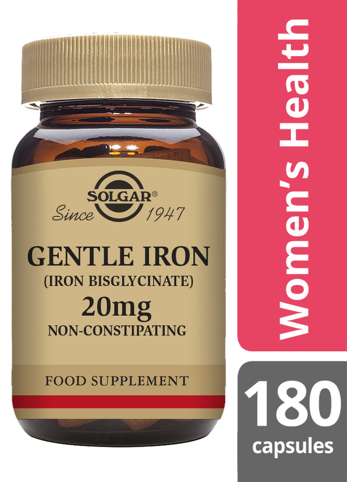 Solgar® Gentle Iron™ 20mg Vegetable Capsules - Pack of 180