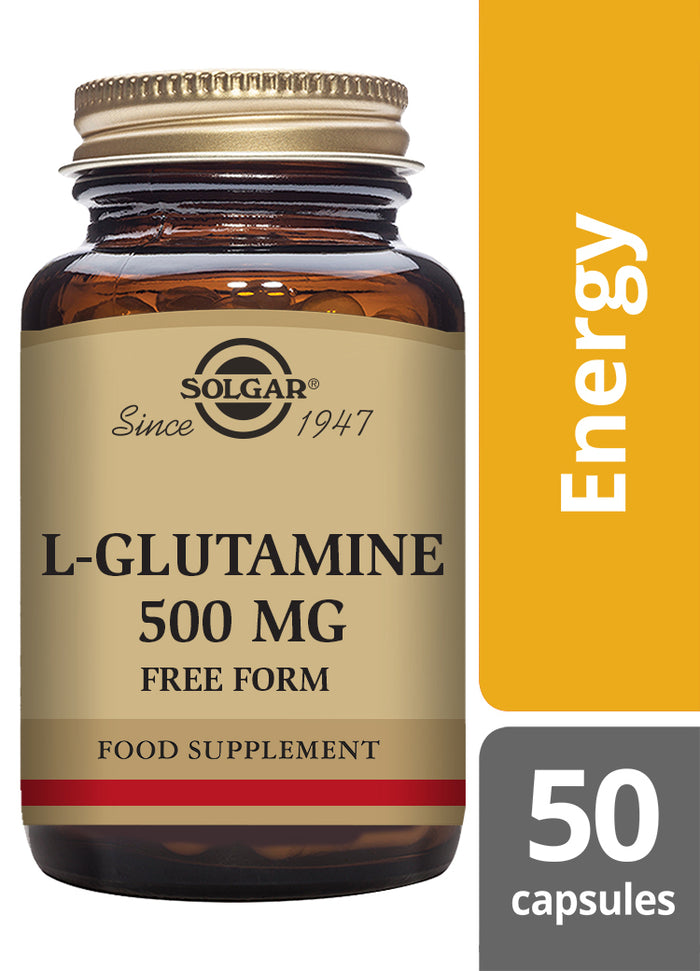 Solgar® L-Glutamine 500 mg Vegetable Capsules - Pack of 50