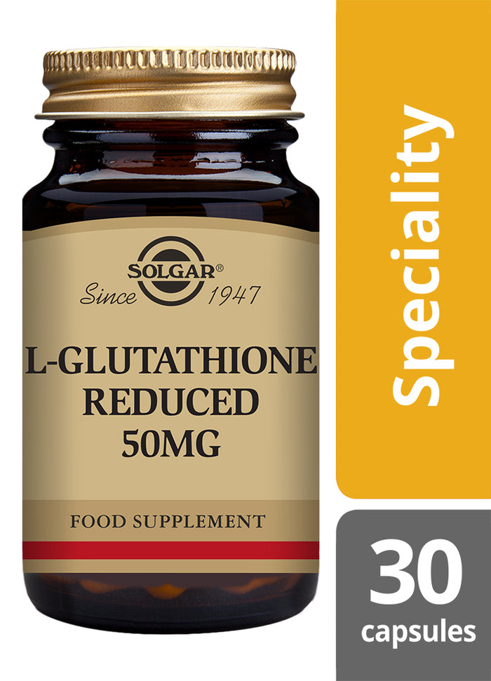 Solgar® L-Glutathione Reduced 50mg Vegetable Capsules - Pack of 30