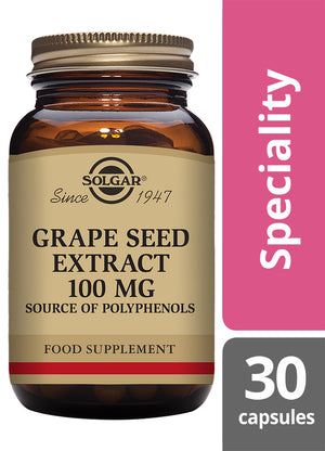 Solgar® Grape Seed Extract 100 mg Vegetable Capsules - Pack of 30