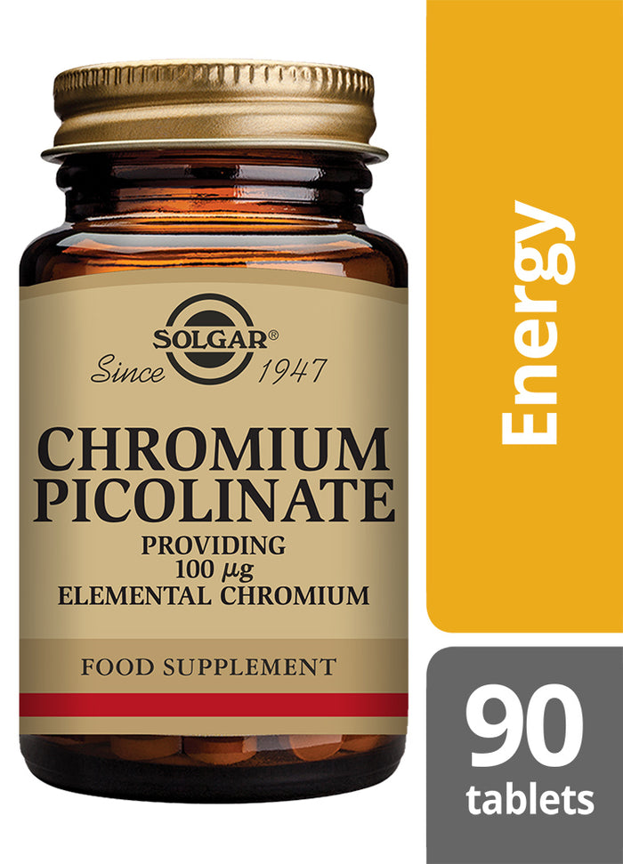 Solgar® Chromium Picolinate 100µg Tablets - Pack of 90