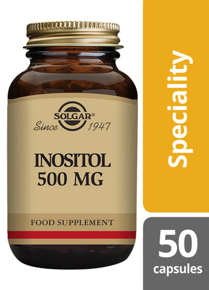 Solgar® Inositol 500mg Vegetable Capsules - Pack of 50