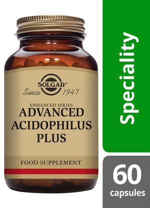 Solgar® Advanced Acidophilus Plus Vegetable Capsules - Pack of 60
