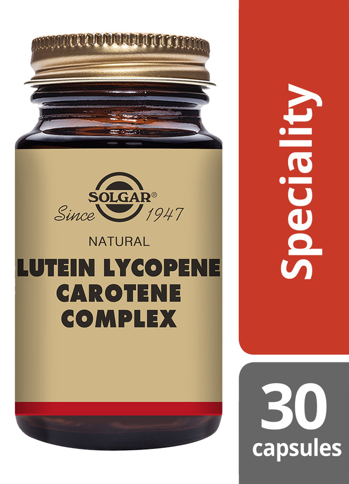 Solgar® Natural Lutein Lycopene Carotene Complex Vegetable Capsules - Pack of 30
