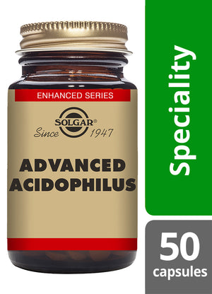 Solgar® Advanced Acidophilus Vegetable Capsules - Pack of 50