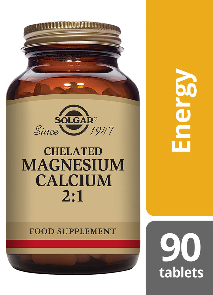Solgar® Chelated Magnesium Calcium 2:1 Tablets - Pack of 90