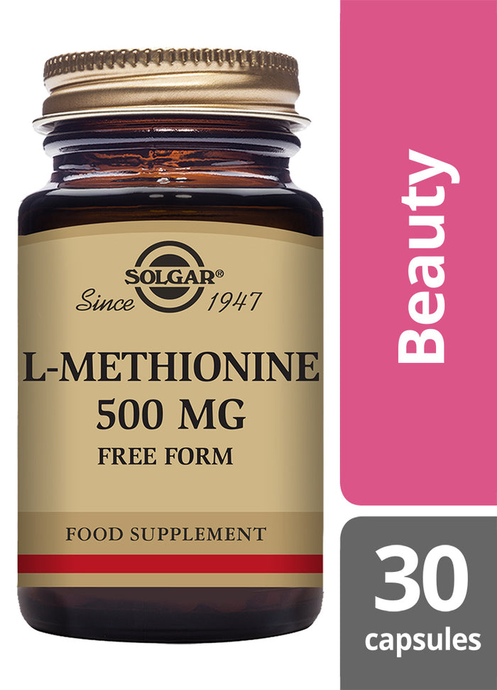 Solgar® L-Methionine 500mg Vegetable Capsules - Pack of 30