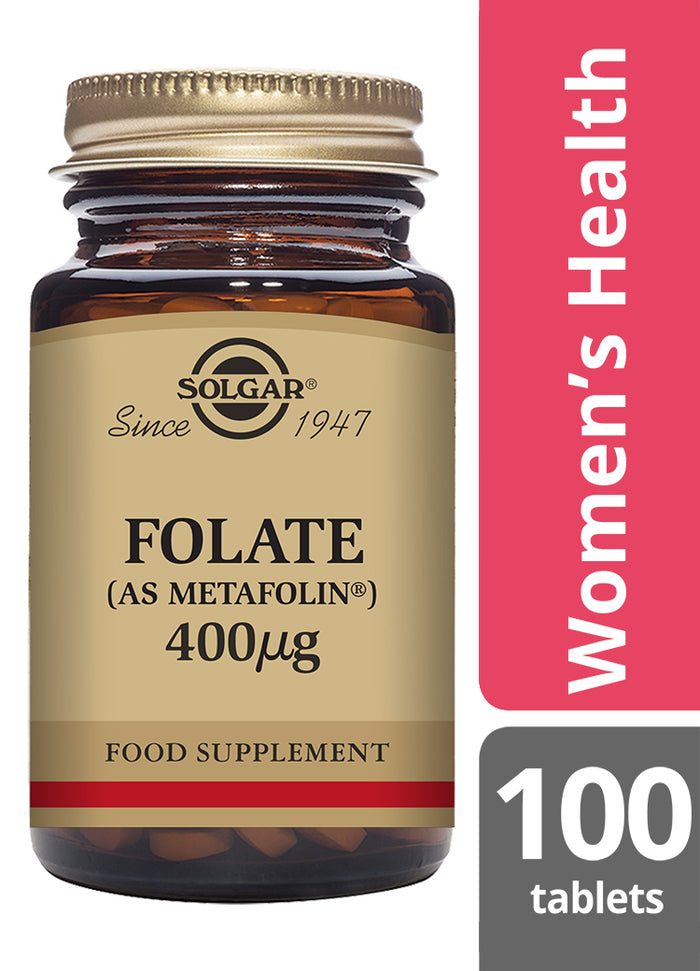 Solgar® Folate 400μg (as Metafolin ®) Tablets - Pack of 100