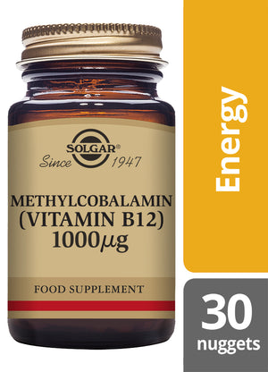 Solgar® Methylcobalamin (Vitamin B12) 1000µg Nuggets - Pack of 30