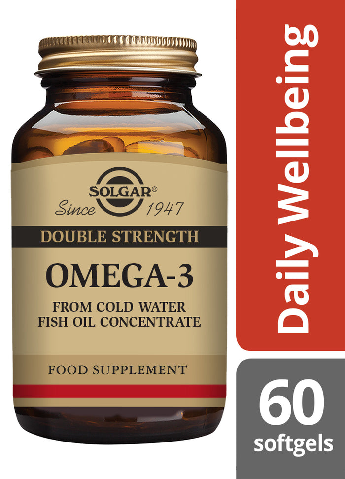 Solgar® Omega-3 Double Strength Softgels - Pack of 60