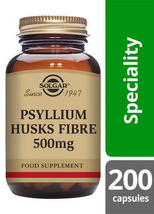 Solgar® Psyllium Husks Fibre 500mg Vegetable Capsules - Pack of 200