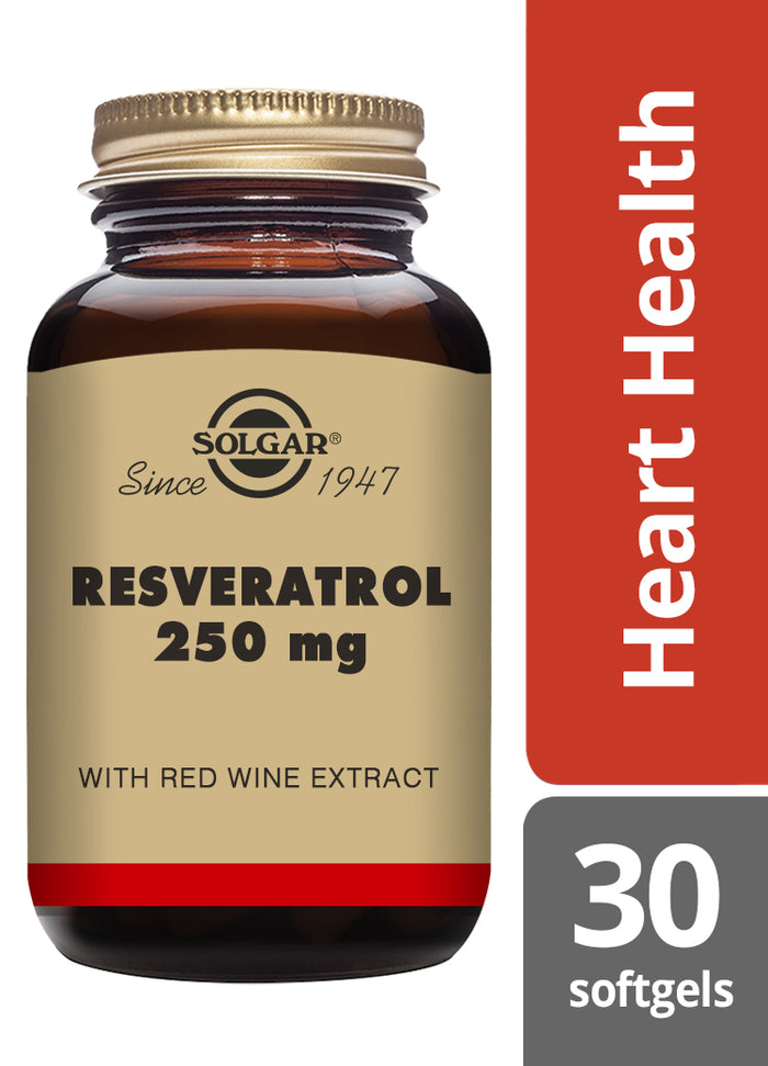 Solgar® Resveratrol 250mg Softgels - Pack of 30
