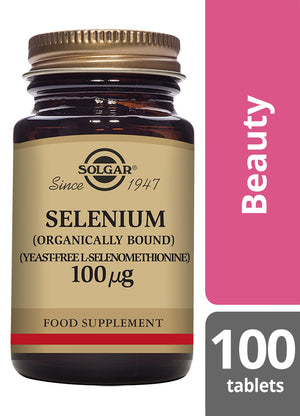 Solgar® Selenium 100µg Tablets (Yeast Free) Pack of 100