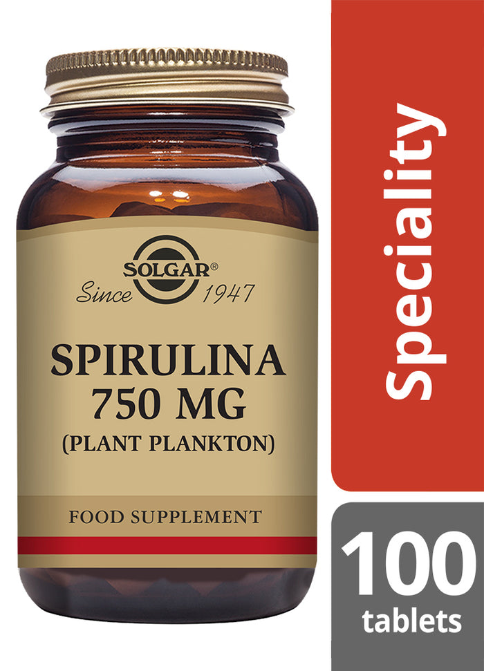 Solgar® Spirulina 750mg Tablets - Pack of 100