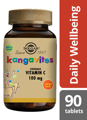 Solgar® Kangavites Natural Orange Burst Vitamin C 100mg - 90 Chewable tablets