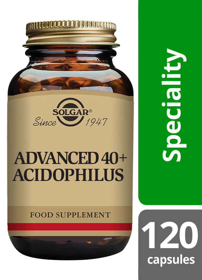 Solgar® Advanced 40+ Acidophilus Vegetable Capsules - Pack of 120