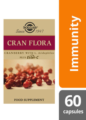 Solgar® Cran Flora Cranberry Vegetable Capsules - Pack of 60