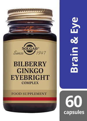Solgar® Bilberry Ginkgo Eyebright Complex Vegetable Capsules - Pack of 60