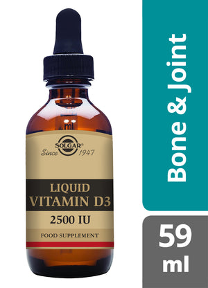Solgar® Liquid Vitamin D3 2500IU (62.5 iµ) Natural Orange Flavour - 59 ml