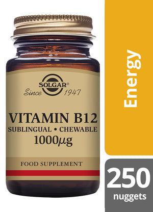 Solgar® Vitamin B12 1000µg Sublingual Chewable Nuggets - Pack of 250