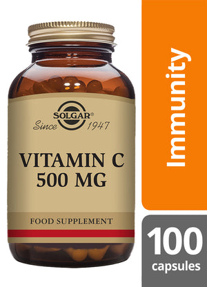 Solgar® Vitamin C 500 mg Vegetable Capsules - Pack of 100