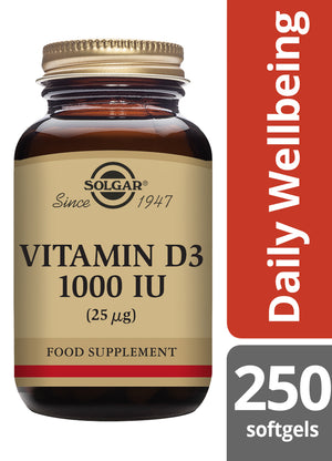 Solgar® Vitamin D3 1000 IU Softgels - Pack of 250