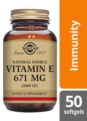 Solgar® Vitamin E 671mg (1000 IU) Softgels - Pack of 50