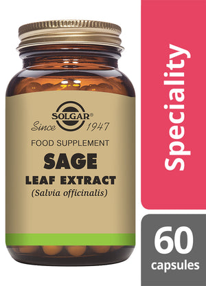 Solgar® Sage Leaf Extract Vegetable Capsules - Pack of 60