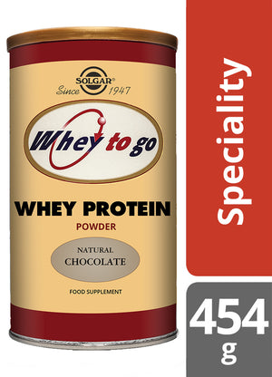 Solgar® Whey To Go® Natural Chocolate Flavour Protein Powder 454g