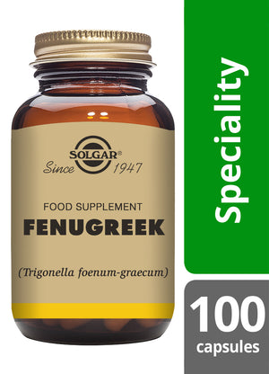 Solgar® Fenugreek Vegetable Capsules - Pack of 100