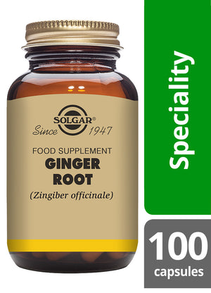 Solgar® Ginger Root Vegetable Capsules - Pack of 100