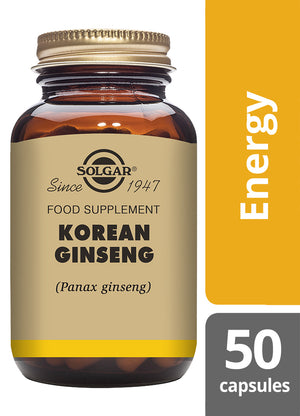 Solgar® Korean Ginseng Vegetable Capsules - Pack of 50