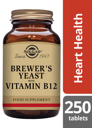 Solgar® Brewer's Yeast with Vitamin B12 Tablets - Pack of 250
