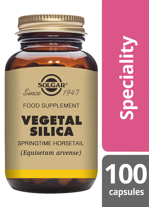 Solgar® Vegetal Silica Vegetable Capsules - Pack of 100