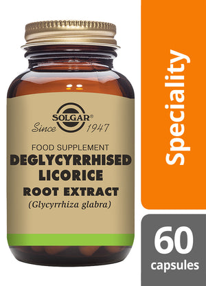 Solgar® Deglycyrrhised Licorice Root Extract Vegetable Capsules - Pack of 60