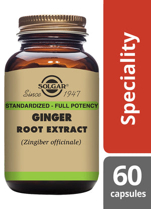 Solgar® Ginger Root Extract Vegetable Capsules - Pack of 60