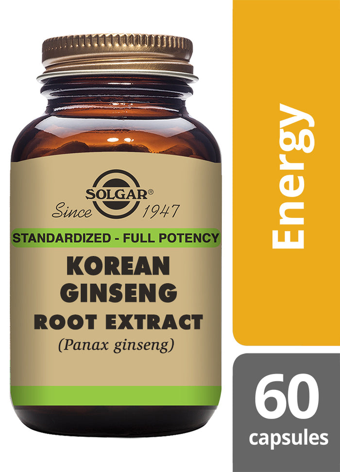Solgar® Korean Ginseng Root Extract Vegetable Capsules - Pack of 60