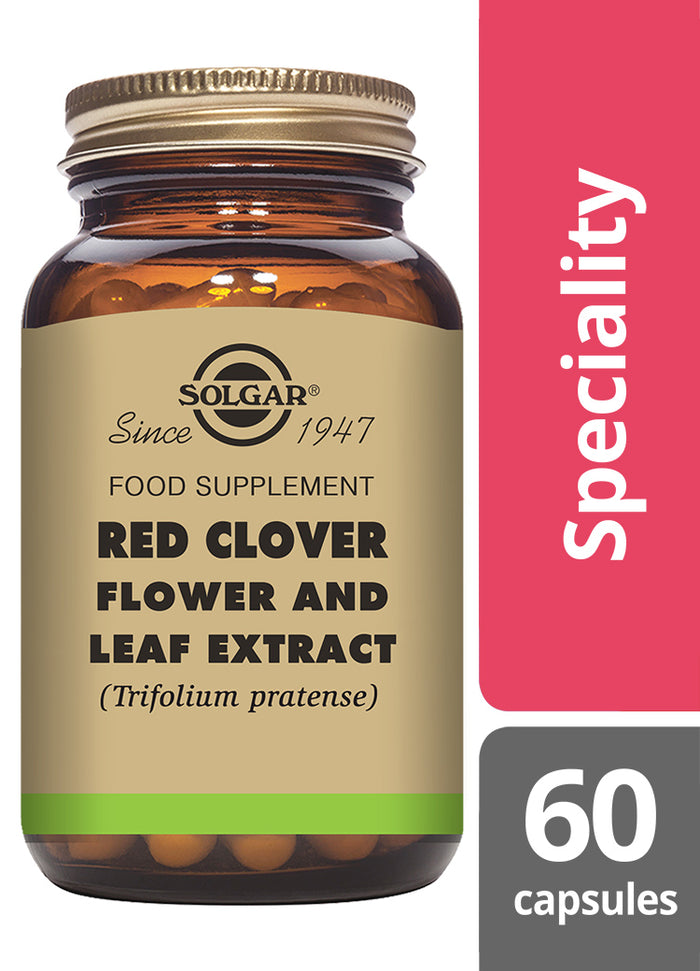 Solgar® Red Clover Flower and Leaf Extract Vegetable Capsules - Pack of 60