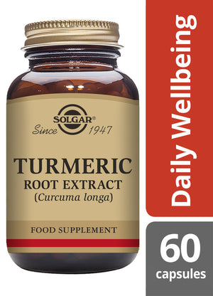Solgar® Turmeric Root Extract Vegetable Capsules - Pack of 60