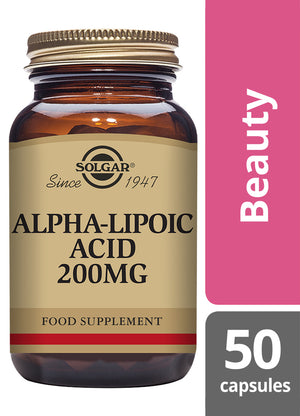 Solgar® Alpha-Lipoic Acid 200 mg Vegetable Capsules - Pack of 50