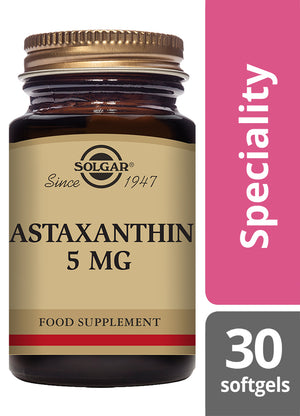 Solgar® Astaxanthin 5mg Softgels - Pack of 30