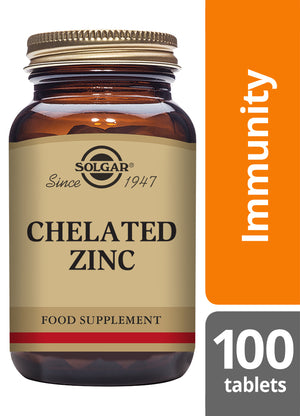 Solgar® Chelated Zinc Tablets - Pack of 100