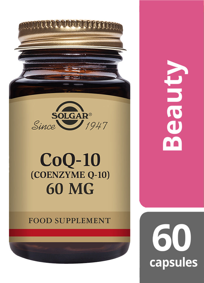 Solgar® CoQ-10 60mg Vegetable Capsules - Pack of 60