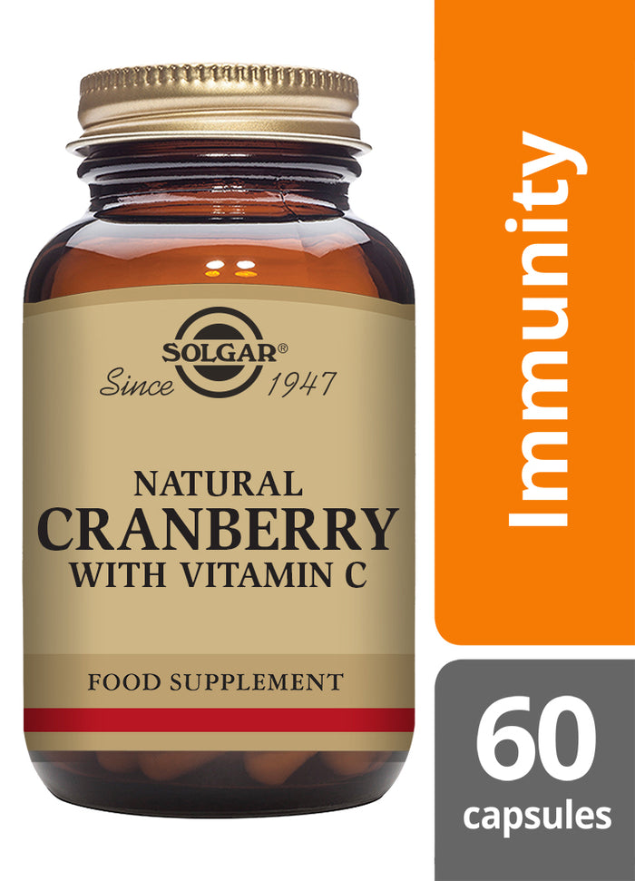 Solgar® Natural Cranberry with Vitamin C Vegetable Capsules - Pack of 60
