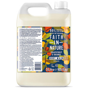 Faith in Nature Grapefruit & Orange Bodywash 5000ml