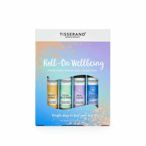 Tisserand Roll-On Wellbeing Roller Ball Collection 4 x 10ml